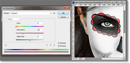 Color face painting in Photoshop.