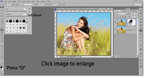 This Photoshop tutorial can work on all CS versions, including CC Creative Cloud.