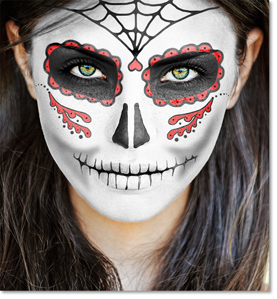 final detaile dia de los muertos face paint - Halloween Day Of The Dead Face Paint