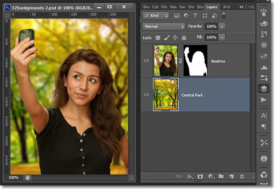 how to add a black layer mask in photoshop