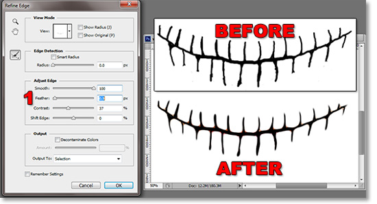 Use refine edge to smooth the lines.