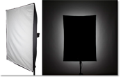 Understanding the light patterns of studio flash modifiers.