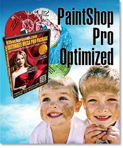 Get digital backgrounds and frames package optimized for Corel PaintShop Pro.